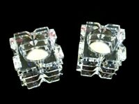 """Pair of Waterford Heritage Irish Lead Crystal Votive Holders """"REFLECTION"""""""