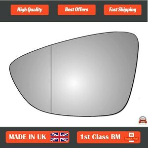 Left Side Clip On Heated Wing Mirror Glass For VW Passat 2015-2021 128LASHE0