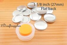 12 set fabric self cover buttons Flat back with Assembly tool Size 45 1 1/8 inch