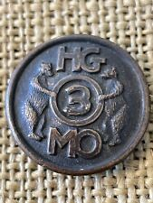 WWI ERA  MO HG Collar Disc Missouri Home Guard with Two Bears Original