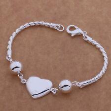 new Silver Plated Fashion Women Heart Beautiful cute Bracelet love jewelry cute