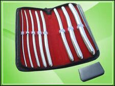 Professional Urethral Hegar Dilator Sounds Surgical Gyne Instruments 8 Pcs Set