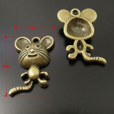 20pcs Antique Bronze Alloy Cartoon Mouse Rat Shaped Charms Pendants Craft 37213