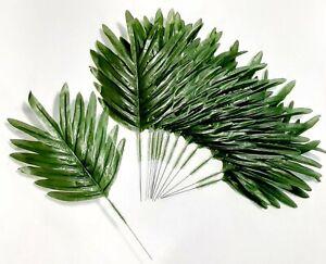"""12"""" Green Fern Palm Leaf (12 Picks) Greenery Plant Home Silk Flower All Decor US"""