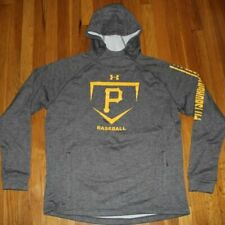 Under Armour Men's Pittsburgh Pirates Baseball Hoodie L ColdGear Sweatshirt Gray