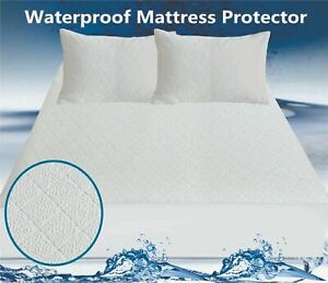 Bamboo Mattress Protector Waterproof Extra Soft Hypoallergenic Fitted bed Cover