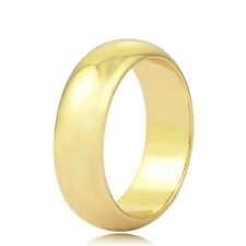 Womens Mens Smooth Charm 14K Yellow Gold Filled Fashion Band Weding Ring Size 9