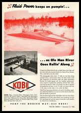 1946 Kobe Inc. Huntington Park California Fluid Power Oil Pumps Vintage Print Ad