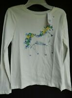 NWT GAP Girl's LS Graphic Horse T-Shirt XS/4-5 & XL/12 Free Shipping New