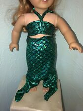 "18"" Doll Green Mermaid Dress Costume Outfit Fits American Girl, OG, My Life"