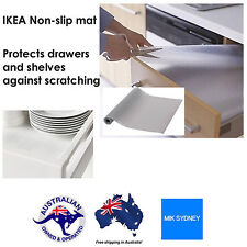 4xIKEA NON-Slip Mat Drawer Liner Kitchen Draw Cupboard Shelf Protect Transparent