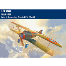 Merit 62401 1/24 Scale Spad S.XIII Fighter Assembly Aircraft Model Kits