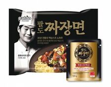 Korean Food Paldo Jjajang myun Liquid Real Black Bean Sauce Noodle 4 packs