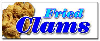 """12"""" FRIED CLAMS DECAL sticker fry clam seafood shell ipswich dinner lunch"""