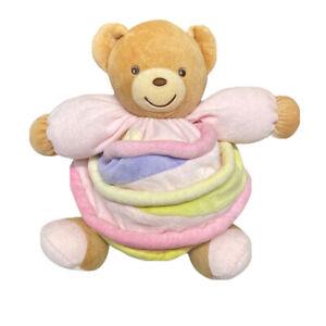 Kaloo Multicoloured Chubby Teddy Bear Doudou Comforter Soft Plush Toy 1998 2005