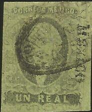 J) 1861 Mexico, Hidalgo, Un Real, District Mexico, Oval Cancellation, Plate Iii,