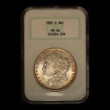 "1885-O $1 Morgan Silver Dollar NGC MS64 ""Fatty Holder"" - Free Shipping USA"