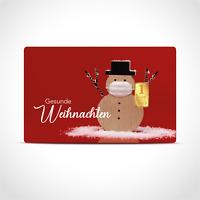 Gold Geschenkkarte / Geschenkidee / 1g Barren / Gesunde Weihnachten Xmas 2020