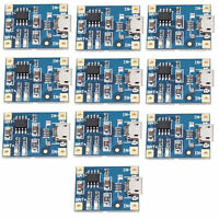10pcs TP4056 Micro USB Charger Module 5V 1A 18650 Lithium Battery Charg Board GB