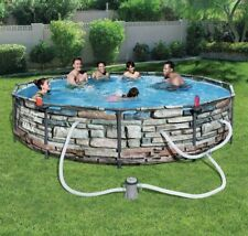 "🔥 Bestway 12' x 30"" Steel Pro Max Round Above Ground Swimming Pool + Kit Pump"