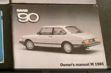 Nos Classic SAAB 90 Owners Manual 1985 Turbo Aero Airflow Service Book 8v 16v