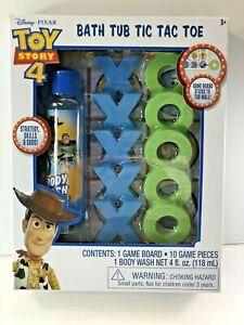 Disney Pixar Toy Story 4 Kids Bath Tub Toy Game Bath Tub Tic Tac Toe & Body Wash