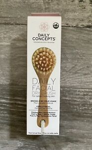 New Daily Concepts Daily Facial Dry Brush For Radiant Looking Skin Vegan New Box