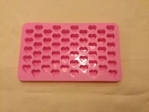 55 Heart Silicone Mould ideal for making Mini Wax Melts buy 3 get a 4th free!!!