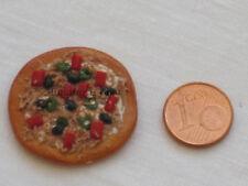 Pizza de fimo miniatura 1/12 casas muñecas