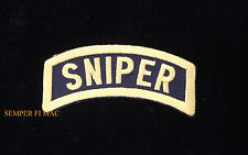 SNIPER TAB RIFLE HAT PATCH US ARMY NAVY SEAL TEAM AIR FORCE MARINES PIN UP USCG