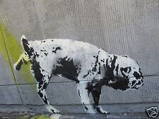 Banksy Street Art Print dog new york canvas or satin photo paper