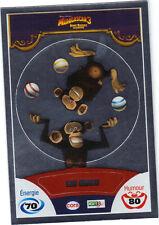 Vignette de collection autocollante CORA Madagascar 3 n° 87/90 - Les singes