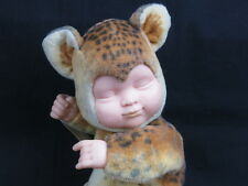 ANNE GEDDES BABY LYING DOWN SLEEPY LEOPARD COSTUME PLUSH PLUSH STUFFED DOLL TOY