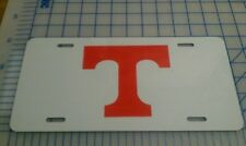 Tennessee Vols white and orange license plate tag