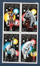 RDA DDR - ** - Zirkuskunst in der DDR - 1978 - Bloc de 4 timbres