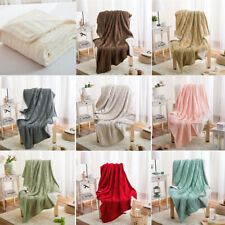 Knitted Acrylic Velvet Blanket Bed Throw Bedspread Sofa Nap Blankets Home Decor