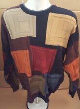 Tundra Sweater Classy Coogi Style 3D Textured Cotton Men's Crewneck Large Biggie