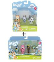 Bluey - 4 pack figurines Friends | Cousins 3 pack figurine - Bingo , Snickers
