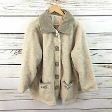 ANTHONY RICHARDS 2X Coat Button Down Lined Gray/White Women's