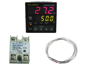 Digital PID Programmable Temperature Controller Switch Cooler Heater Relays Fan