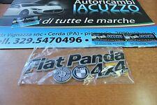 TARGHETTA POSTERIORE SCRITTA FIAT PANDA 4X4 FINO AL 2003 NERO