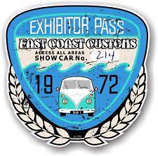 Retro Effetto Invecchiato Custom CAR SHOW ESPOSITORE PASS 1972 VINTAGE vinyl sticker decal