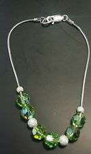 JCE Sterling Silver Bracelet w Swarovski peridot made shipped OZ JCE11S 03