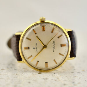 HAMILTON Thinline Calatrava 14k yellow gold vintage 1950s wristwatch
