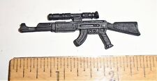 GI Joe Accessory    1991 Red Star         AK-47 Assault Rifle with Scope  /  gun