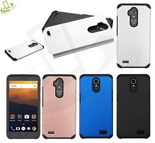 ZTE Max XL Blue Blade Max 3 Slim Hybrid ShockProof Rubber Protective Case Cover