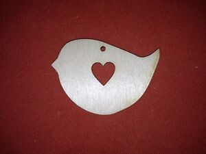 10 x CHRISTMAS BIRD UNPAINTED  BLANK WOODEN SHAPES GIFT CHRISTMAS TAG