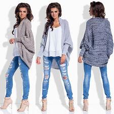 █■█ █ ▀█▀ Neu Damen LUXUS Sweatshirt Pullover Cardigan Strickjacke Oversize Sexy