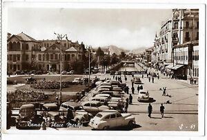 Syria 1958 airmail Merdje Square  postcard to Yugoslavia