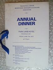 More details for annual dinner- 1977  football league secretaries, managers & coaches association